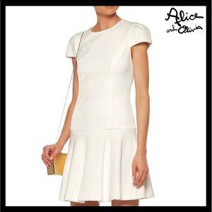 ALICE + OLIVIA SHORT SLEEVE DRESS